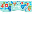 travel check list template copy space for vector image vector image