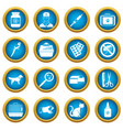 veterinary icons blue circle set vector image vector image
