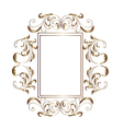 Victorian aluminum frame - vector image vector image