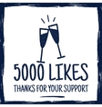 vintage thank you badges social media followers vector image