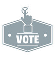 vote logo simple gray style vector image vector image