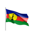 waving flag of new caledonia vector image