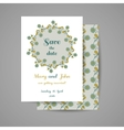 Wedding Invitation Blue Flowers vector image vector image