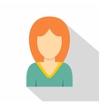 Young woman avatar icon flat style vector image vector image