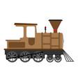 cartoon old steam locomotive vector image