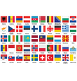 icons with flags of Europe vector image
