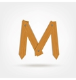 Wooden Boards Letter M vector image