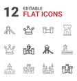 12 kingdom icons vector image vector image