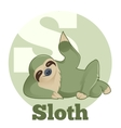 ABC Cartoon Sloth vector image vector image
