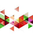 abstract colorful overlapping geometric strip on vector image vector image