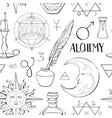 Alchemy symbols pattern vector image vector image