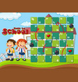 back to school board game template vector image