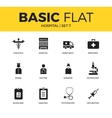Basic set of Hospital icons vector image vector image