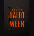 beautiful black greeting poster for halloween vector image