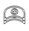 bill money dollar cash icon line vector image vector image