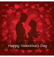 black silhouette of lovers embracing vector image vector image