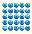 Blue round buttons vector image vector image