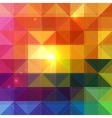 Bright abstract triangles background vector image