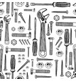 building tools hand drawn pattern vector image