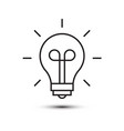 bulb outline simple icon isolated symbol vector image vector image