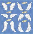 cartoon angel wings holy angelic nimbus vector image vector image