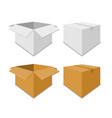 collection white and brown box packaging vector image
