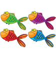 color fish vector image vector image