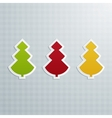 Colored Fir-Trees Set of Three vector image vector image