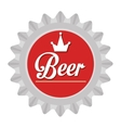 colorful beer sign graphic vector image