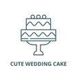 cute wedding cake line icon linear concept vector image