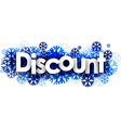 Discount banner with blue snowflakes vector image vector image