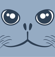 Dog seal face vector image vector image