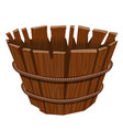 empty basket isolated on white background vector image vector image