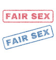 fair sex textile stamps vector image vector image