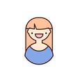 female icon avatar women vector image