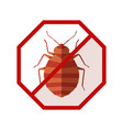 flat geometric sign with bedbug vector image vector image