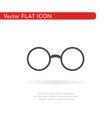 glasses icon flat design vector image vector image