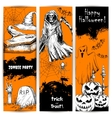 Halloween Party celebration posters and banners vector image vector image