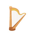 harp string musical instrument vector image vector image