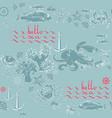 hello sea seamless pattern of sea vector image