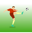 high kick football soccer player vector image