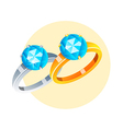 icon rings vector image