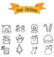 Icons of Christmas element vector image