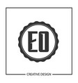 initial letter eo logo template design vector image