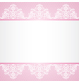 lace floral border on pink background vector image