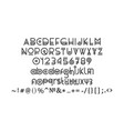 latin alphabet uppercase lowercase letters vector image vector image