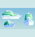 luxury cruise liner for summer vacation and travel vector image vector image