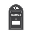 mail box outline icon vector image vector image