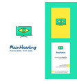 monitor creative logo and business card vertical vector image vector image