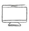 monochrome blurred silhouette of screen monitor vector image vector image